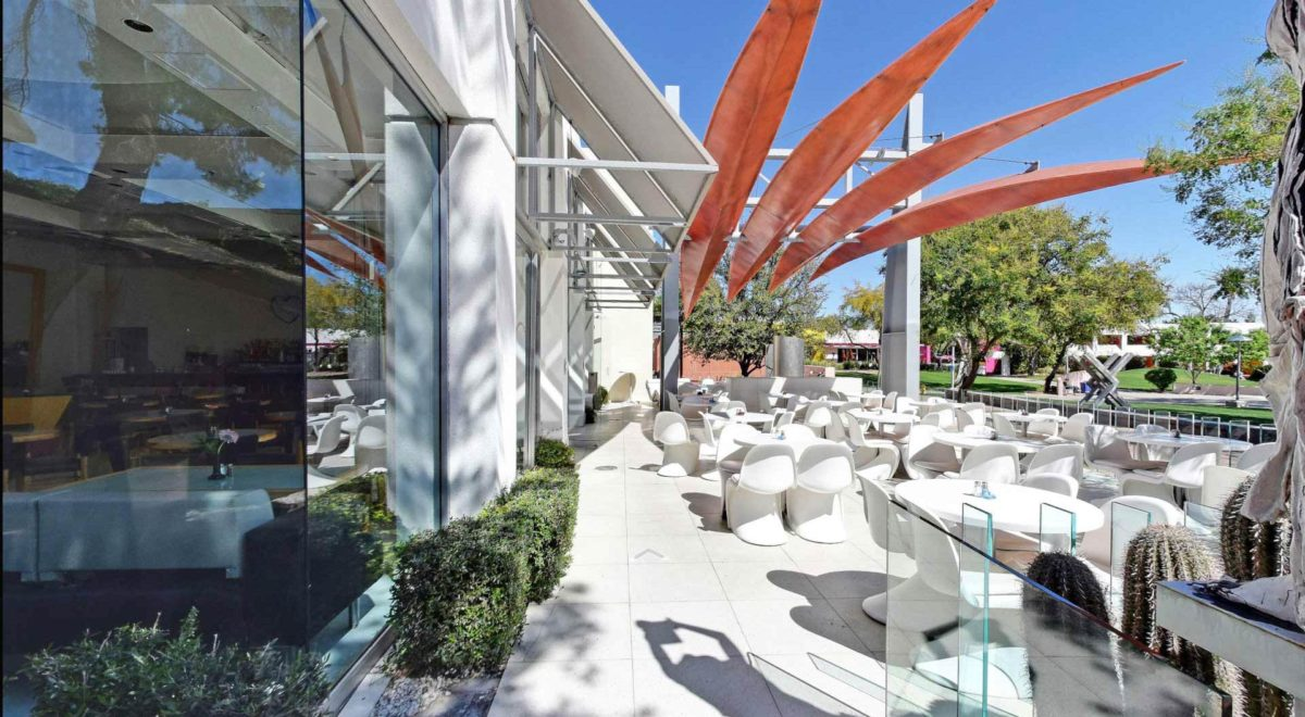 Beautiful patio on the Scottsdale Mall